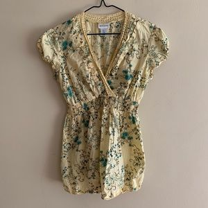 Motherhood Maternity Yellow Floral Blouse